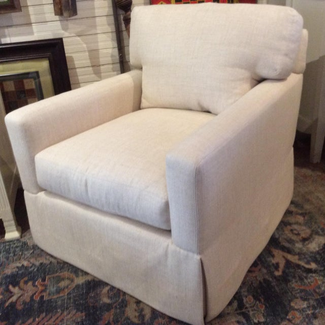 Modern Lee Industries Swivel Chair Item # 5381-01sw For Sale - Image 3 of 6