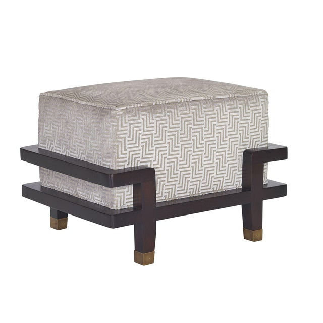 Pearson Pearson Carson Upholstered Ottoman For Sale - Image 4 of 4