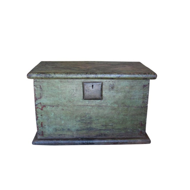 Asian Huge 1650s Asian Trunk, Wood & Iron, Handmade Craftsmanship For Sale - Image 3 of 10