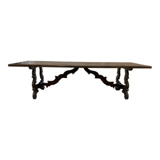 French Antique Farm Trestle Dining Table - Early 20th C For Sale