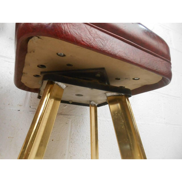 Six Vintage Casino Swivel Stools - Image 8 of 9