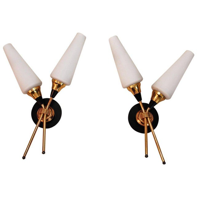 Mid-Century Modern French Midcentury Sconces - a Pair For Sale - Image 3 of 3