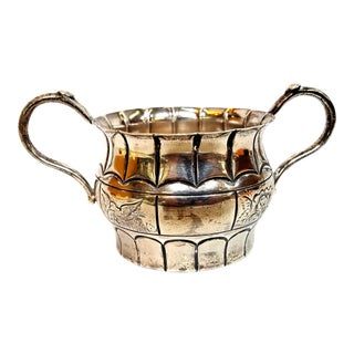 Vintage Alfredo Ortega Two-Handled Child's Cup in 900 Silver Mexico#7728 For Sale