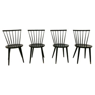 Swedish Windsor Style Dining Chairs - Set of 4 For Sale
