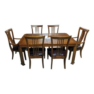 Solid Cherry Thomasville Dining Table & Chairs For Sale