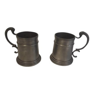 Vintage Pewter Drinking Cups - A Pair For Sale