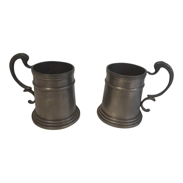 Vintage Pewter Drinking Cups - A Pair - Image 1 of 4