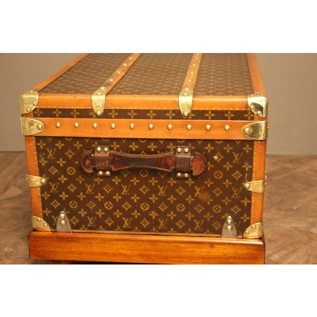 1930s Louis Vuitton Cabin Steamer Trunk For Sale - Image 9 of 13