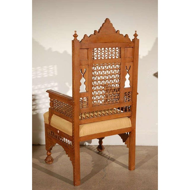 Islamic Syrian Moorish Royal Throne Armchairs For Sale - Image 3 of 10