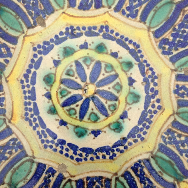 Hand Painted Moroccan Platter - Image 3 of 7