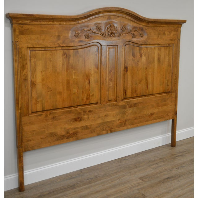French Country Style Quality High Back Pine King Headboard For Sale - Image 4 of 13