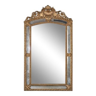 19th Century Antique French Louis Philippe Pareclose Mirror For Sale