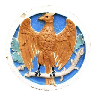 Antique Architectural Salvage Terra Cotta Eagle Sculpture For Sale