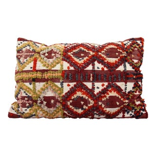 Vintage Turkish Pom Pom Rug Pillow