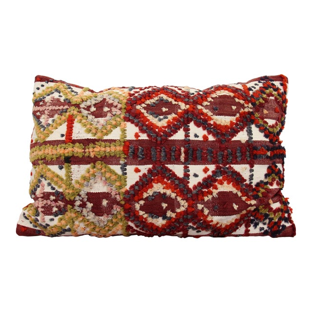 Vintage Turkish Pom Pom Rug Pillow Chairish