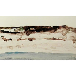 "Emil Bisttram ""Beach"" Painting For Sale"