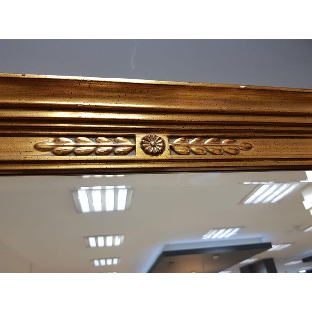 Vintage Rectangular Neoclassical Gilded Wall Mirror For Sale - Image 4 of 13