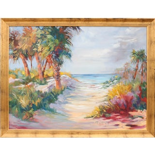 Florida Pan Handle Framed Oil on Canvas by Jo Ann Williams Walker For Sale