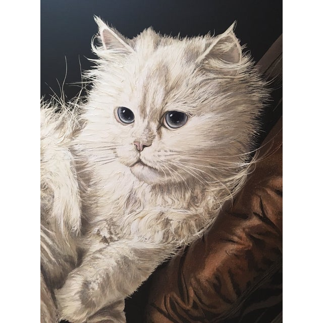 "Antoinette Letterman ""The Resting Cat (Cashmere)"" Giclee Painting For Sale - Image 4 of 8"