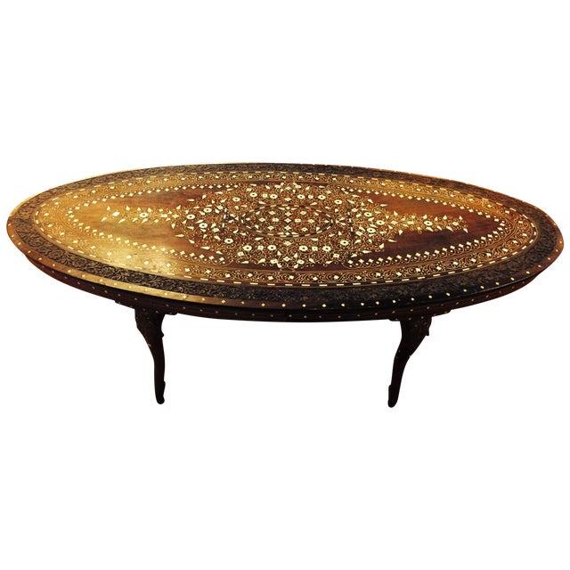 Anglo Raj Inlaid Cocktail Table - Image 1 of 8