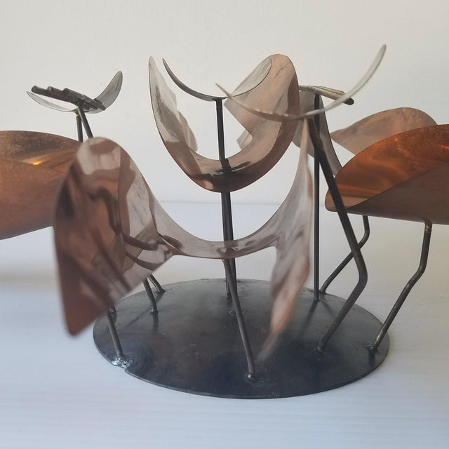 Metal Mid 20th Century Unmarked Curtis Jere Wall Sculpture For Sale - Image 7 of 11