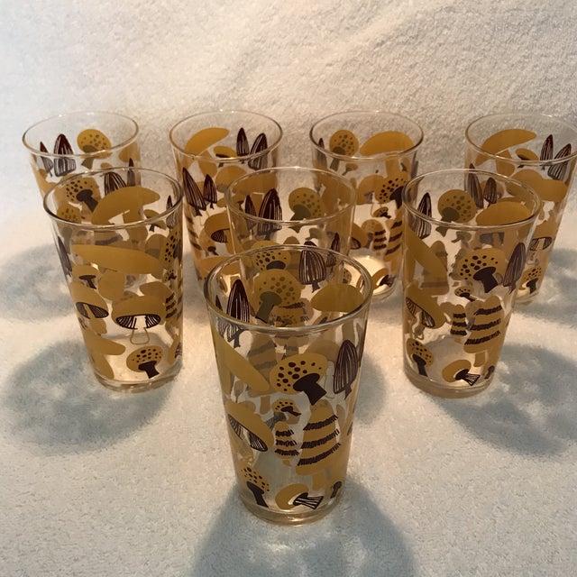 Mid-Century Modern Mushroom Glasses - Set of 8 - Image 10 of 10
