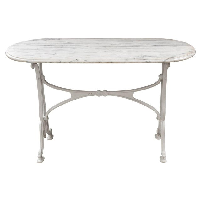 Early 20th Century French Marble Top Bistro Table For Sale - Image 10 of 10