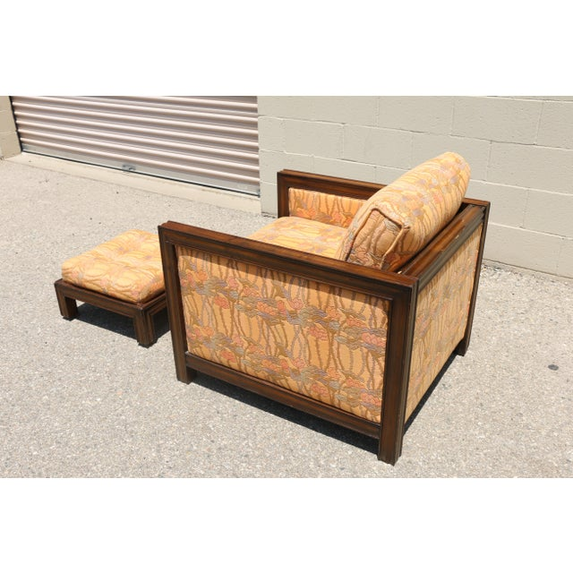 Retro Vintage Chair and Stool - Image 6 of 8