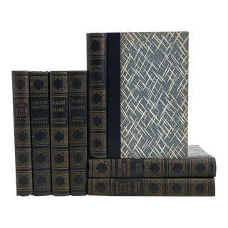 Vintage Blue Book Set: World's Popular Classics - Set of 7 For Sale