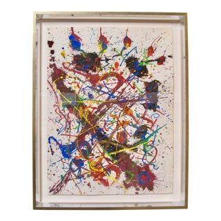 1970s Vintage Abstract Expressionist Painting Original Hendrik Grise For Sale