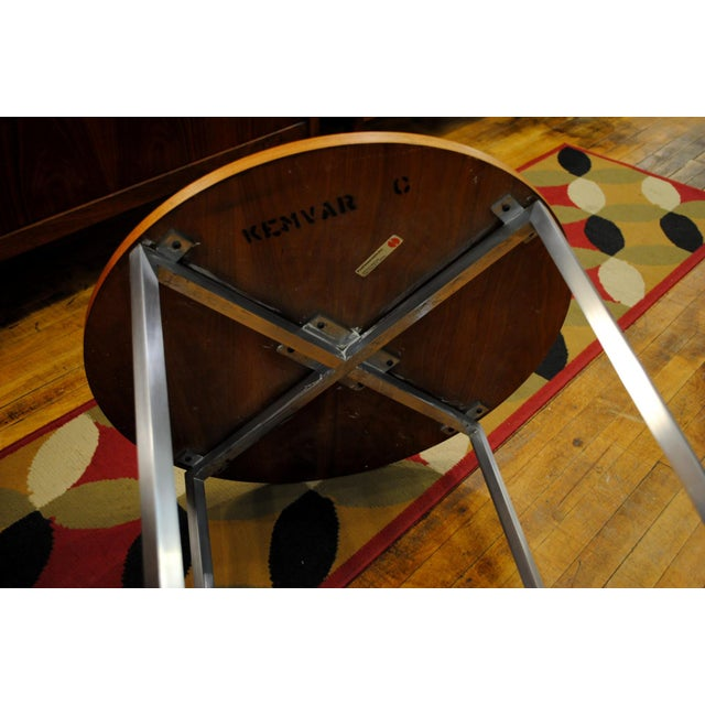 Metal 1960s Florence Knoll Mid-Century Round Side Tables - A Pair For Sale - Image 7 of 9