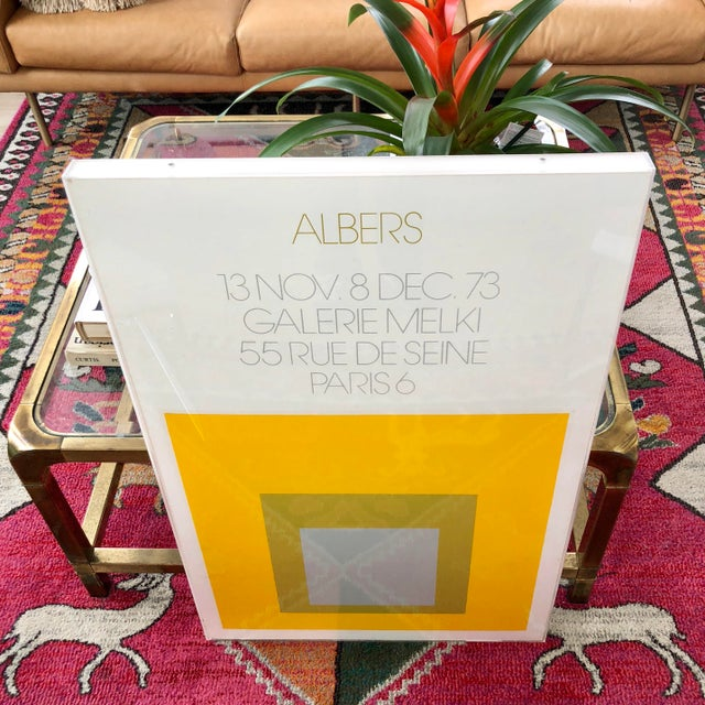 Josef Albers 1973 Josef Albers Framed Homage to the Square Poster For Sale - Image 4 of 10