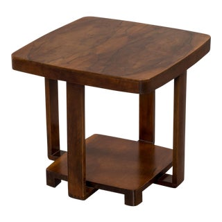 Art Deco Vintage French Walnut Table circa 1930 For Sale