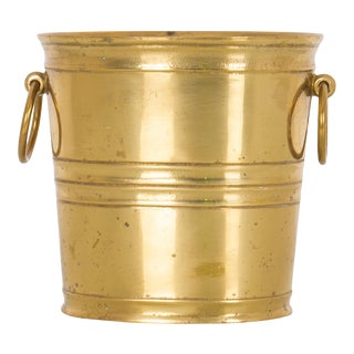 1950s Brass Ice Bucket For Sale