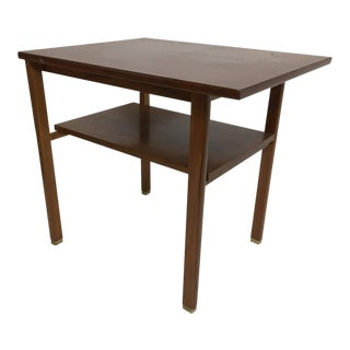 Edward Wormley for Dunbar Walnut Side Table For Sale