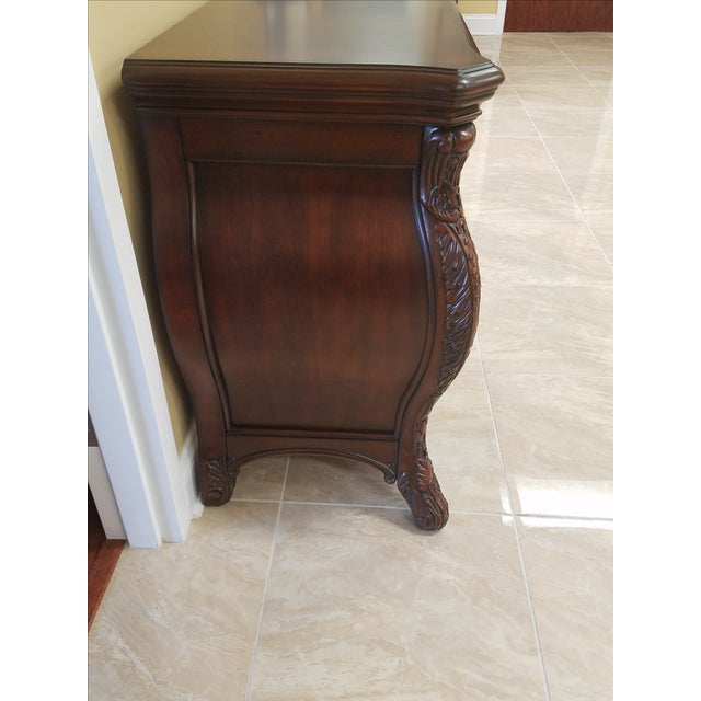 Brown Victorian King Post Bed Nightstand For Sale - Image 8 of 8