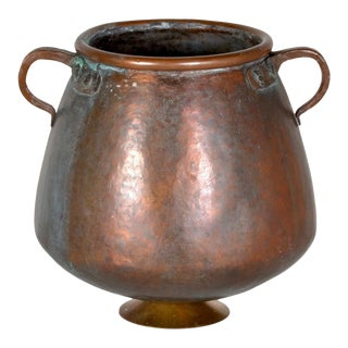 Early 20th Century Classical Form Copper Pot For Sale