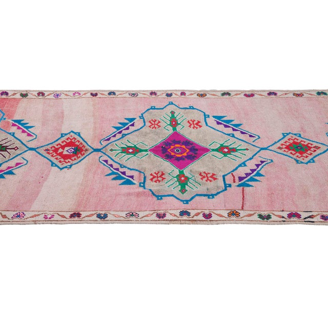 Islamic 1960s Vintage Turkish Rug - 5′2″ × 16′ For Sale - Image 3 of 6