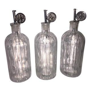 Art Deco Style Liquor Decanters - Set of 3 For Sale