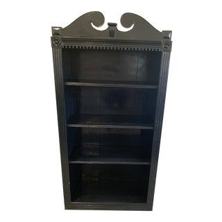 Antique 19th Century Chippendale Black Lacquer Bookcase/Shelf For Sale