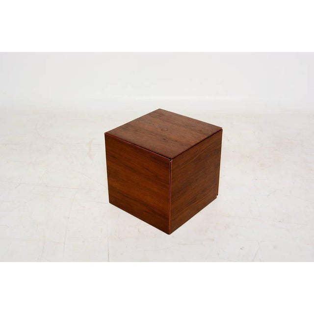 Poul Nørreklit Set of 6 Teak Nesting Tables Poul Nørreklit for Gp Farum Magic Puzzle Cube For Sale - Image 4 of 7