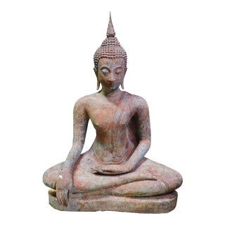 Cast Bronze Sukhothai Buddha For Sale