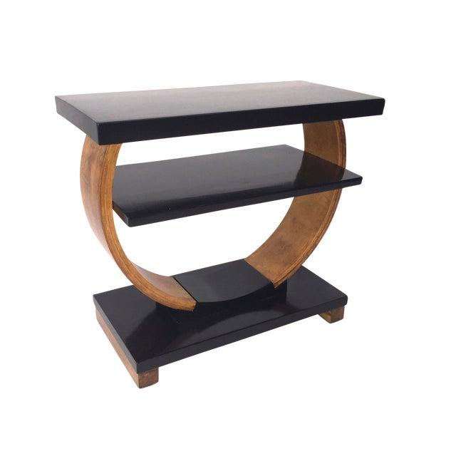 Brown Saltman Deco End Table - Image 1 of 3