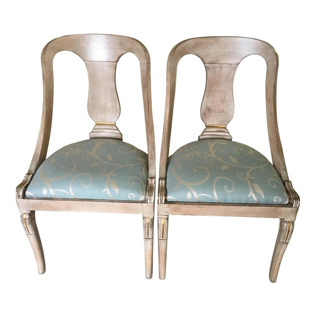 Roman Style Library Chairs - A Pair For Sale
