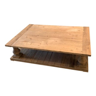 Balustrade Salvaged Wood Coffee Table For Sale