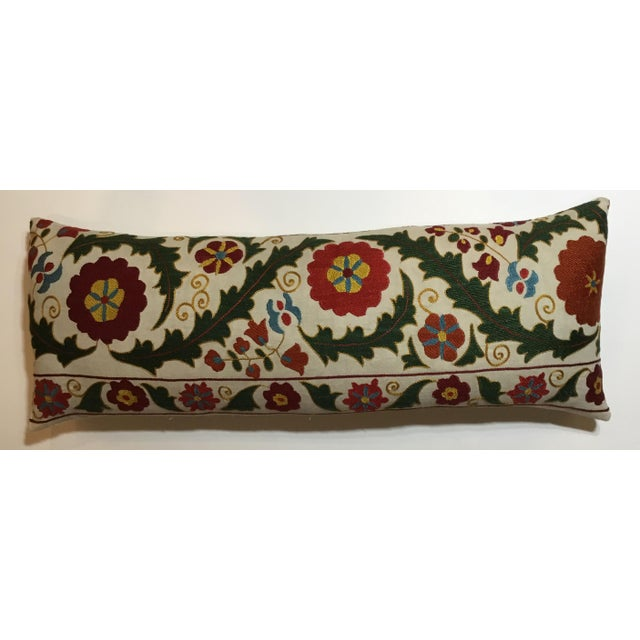 Hand Embroidery Vintage Suzani Pillow - Image 8 of 9