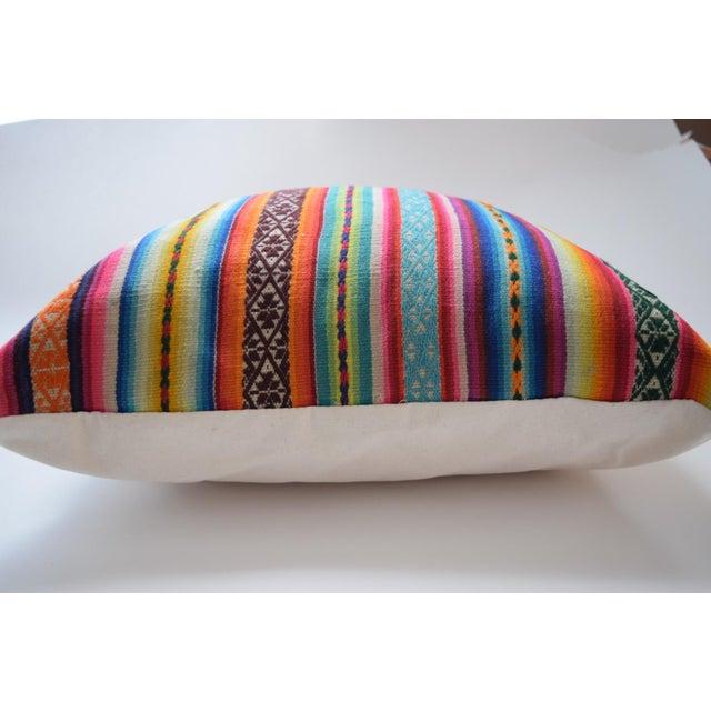 Boho Striped Manta Pillow - Image 4 of 6