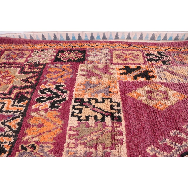 "Moroccan Vintage Moroccan Beni M'Guild Rug - 6'6"" x 13'3"" For Sale - Image 3 of 4"