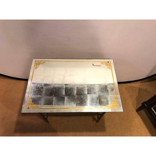 Hollywood Regency Bronze Based Eglomise Top Coffee Table - Image 3 of 10