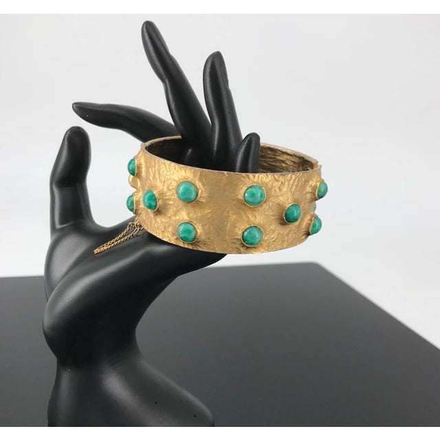 Glass 1960s Massive Volcano Bellini Bracelet Designer Costume High-End Couture For Sale - Image 7 of 7